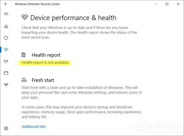 "Win10 Windows defender提示""运行状况报告不可用""如何解决?"