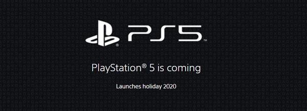 索尼更新官网:重申PS5将如期在今年圣诞节上市